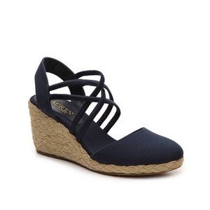 Lauren Ralph Lauren | Navy Blue Caralee Wedge Heel